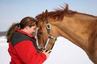 koń z właścicielką